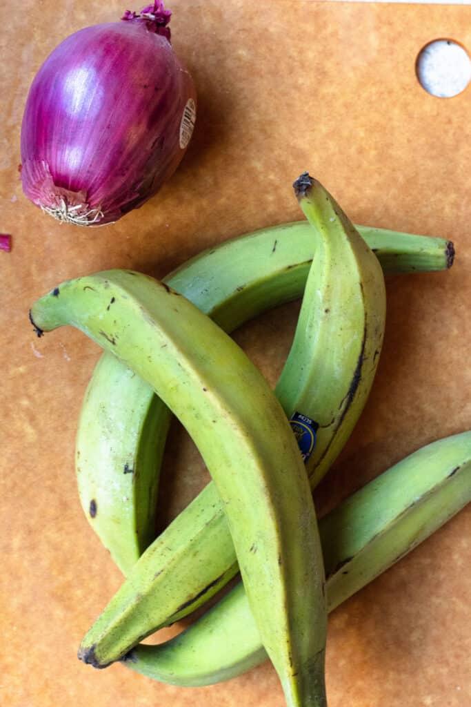 Ingredients for mangú
