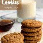 Maple Cookies Pinterest Image Top Left banner
