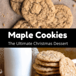 Christmas Maple Cookies Pinterest Image Middle Black Banner