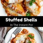 Stuffed Shells In The Instant Pot Pinterest Image middle black banner