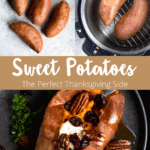 Thanksgiving Instant Pot Sweet Potatoes Pinterest Image Middle Banner
