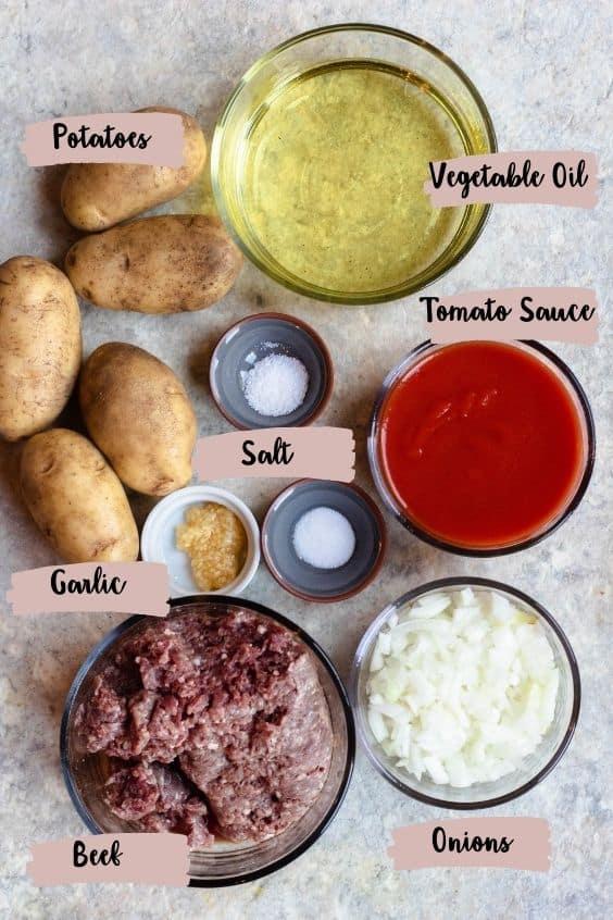 Ingredients for Yaroa Dominicana