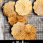 5 Italian Christmas Cookies Pinterest Image Bottom Black Banner