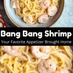 Instant Pot Bang Bang Shrimp Pinterest Image Middle Black Banner