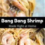 Homemade Bang Bang Shrimp Pinterest Image middle black banner