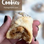 Christmas Walnut Cookies Top Left Brown Banner