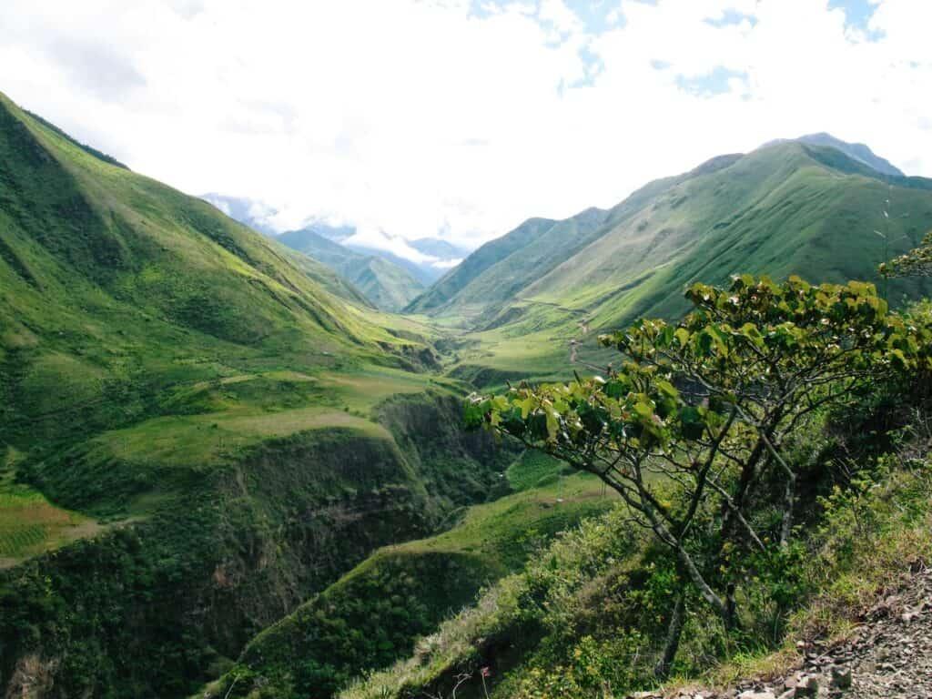 Lush green mountains of Ecuador