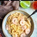 Homemade Bang Bang Shrimp Pinterest Image top black banner