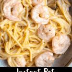 Instant Pot Bang Bang Shrimp Pinterest Image bottom black banner