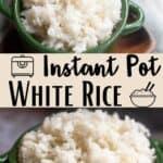 Instant Pot White Rice Pinterest Image middle design banner