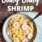 Instant Pot Bang Bang Shrimp Pinterest Image top design banner