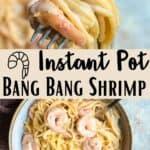 Instant Pot Bang Bang Shrimp Pinterest Image middle design banner