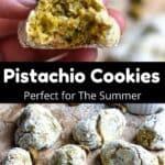 Pistachio Cookies Pinterest Image middle black banner