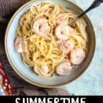 Summertime Bang Bang Shrimp Pinterest Image bottom black banner