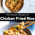 Instant Pot Chicken Fried Rice Pinterest Image Middle black banner