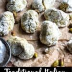 Pistachio Cookies Pinterest Image bottom black banner