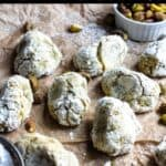 Pistachio Cookies Pinterest Image top black banner
