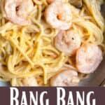 Instant Pot Bang Bang Shrimp Pinterest Image bottom design banner