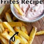 Belgian Frites Pinterest Image top outlined title