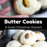 Christmas Butter Cookies Pinterest Image Middle Black Banner
