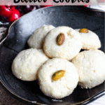 Christmas Butter Cookies Pinterest Image Top Striped Banner