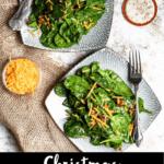 Christmas Spinach Salad Pinterest Image Bottom Black Banner