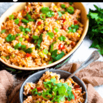 Pigeon Peas and Rice Pinterest Image Top Black Banner