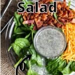 Easter Spinach Salad Pinterest Image top outlined title