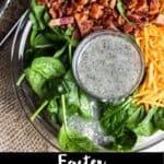 Easter Spinach Salad Pinterest Image bottom black banner