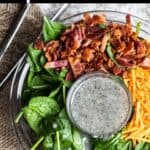 Easter Spinach Salad Pinterest Image top black banner