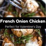 Valentine's Day French Onion Chicken Pinterest Image middle black banner