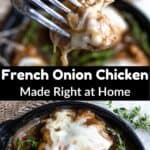 French Onion Chicken Pinterest Image middle black banner