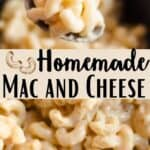 Homemade Mac and Cheese Pinterest Image middle design banner
