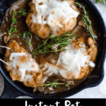 Instant Pot French Onion Chicken Pinterest Image Bottom Black Banner