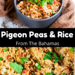 Pigeon Peas and Rice Pinterest Image Middle Black Banner