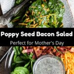 Mother's Day Spinach Salad Pinterest Image middle black banner