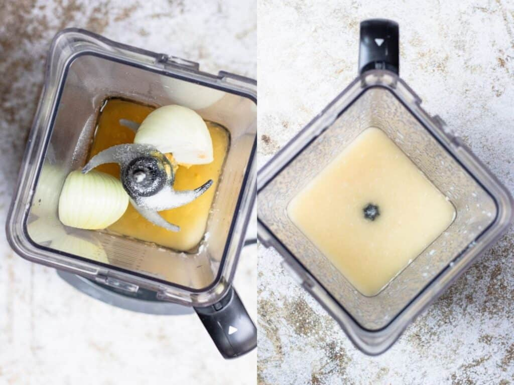 collage of mixing dressing