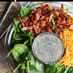 Poppy Seed Dressing Spinach Salad Pinterest Image Top Black Banner