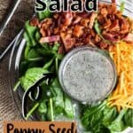 Mother's Day Spinach Salad Pinterest Image top outlined Title