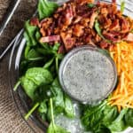 Spinach Salad with Bacon and Poppy Seed Dressing