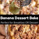 Banana Dessert Bake Pinterest Image Middle Black banner
