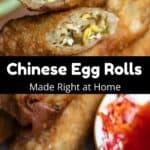 Homemade Chinese Egg Rolls Pinterest Image middle black banner
