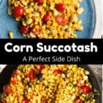 Homemade Corn Succotash Pinterest Image Middle Black Banner
