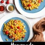 Homemade Corn Succotash Pinterest Image Bottom Black Banner