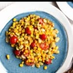 Homemade Corn Succotash Pinterest Image Top Black Banner