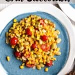 Homemade Corn Succotash Pinterest Image Top Striped Banner