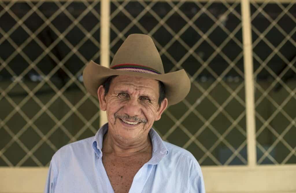 Salvadoran Man in a cowboy hat