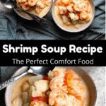 Shrimp Soup Pinterest Image Middle Black Banner