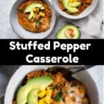 Instant Pot Stuffed Pepper Casserole Pinterest Image middle black banner