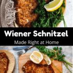 Homemade Wiener Schnitzel Pinterest Image Middle Black Banner